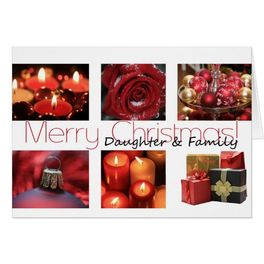 Daughter & Family Christmas red, black & white