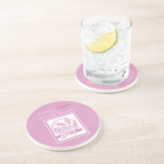 Daughter First Communion, Pink Coaster