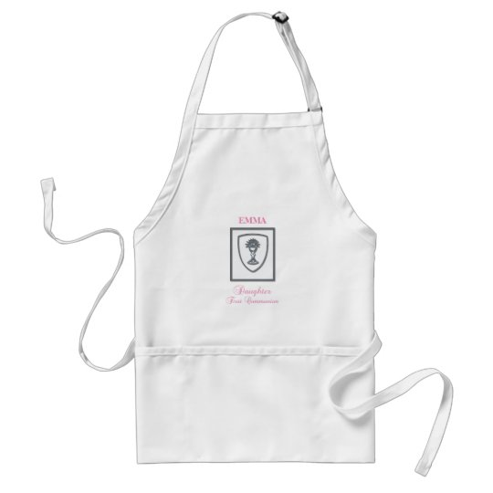 Daughter, First Communion Silver Chalice Standard Apron
