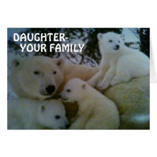 DAUGHTER FROM FAMILY-BIRTHDAY GREETING CARD