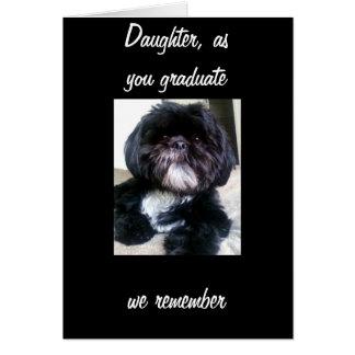 DAUGHTER GRADUATES WITH MEMORIES CARD