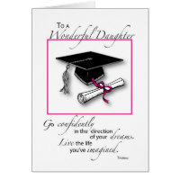 Daughter Graduation Pink Black