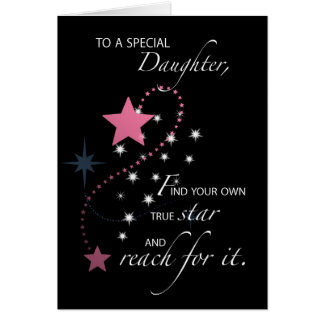 Daughter, Graduation Star Congratulations Card