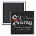Daughter - Grey Ribbon Awareness Fridge Magnets