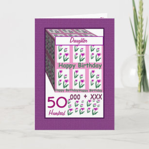 Daughters 50th Birthday Cards