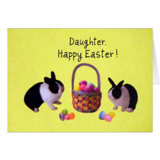 Daughter, Happy Easter! Greeting Card