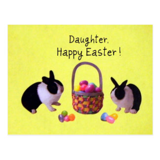 Daughter, Happy Easter! Post Card