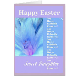 DAUGHTER - Happy Easter with Lily Greeting Card