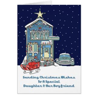 Daughter & Her Boyfriend Sending Christmas Wishes Card