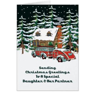 Daughter & Her Partner Christmas Greetings Card
