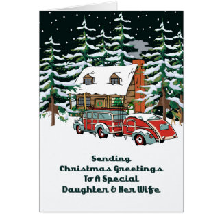Daughter & Her Wife Christmas Greetings Card