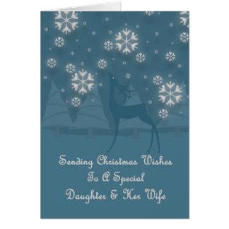 Daughter & Her Wife Reindeer Christmas Card