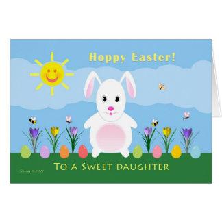 Daughter Hoppy Easter - Easter Bunny Card