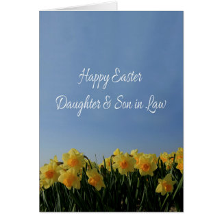 Daughter & Husband   Happy Easter Greeting Card