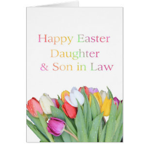 Son and daughter in law easter gifts gift ideas zazzle uk daughter husband happy easter card negle Choice Image