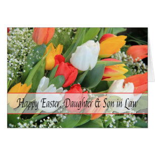 Daughter and son in law easter gifts gift ideas zazzle uk daughter husband happy easter card negle Images