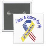 Daughter - I Wear A Ribbon Military Patriotic Pinback Buttons