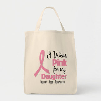 Daughter - I Wear Pink - Breast Cancer Bags