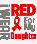Daughter - I Wear Red Ribbon Tshirt