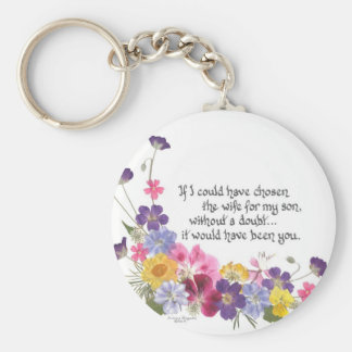 Daughter-in-Law gift Basic Round Button Key Ring
