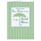 Daughter-in-Law, Green, Bridal Shower Umbrella Card
