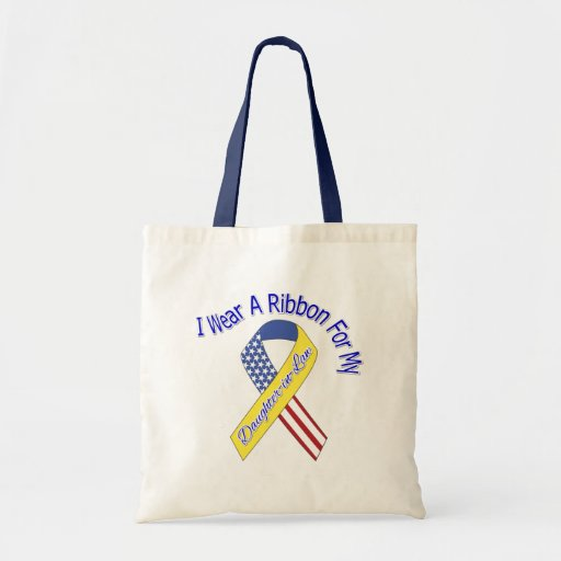 Daughter-in-Law - I Wear A Ribbon Military Patriot Bag