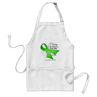 Daughter-in-Law Lime Green Ribbon - Lymphoma Standard Apron