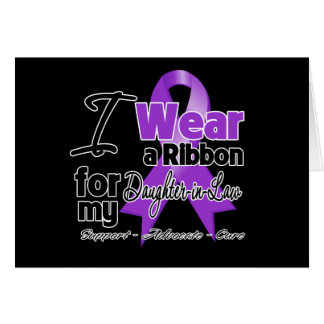 Daughter-in-Law - Pancreatic Cancer Ribbon Greeting Card