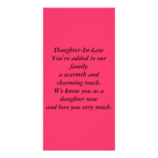 Daughter-In-Law Photo Card