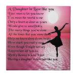 Daughter in Law Poem - Ballerina Small Square Tile