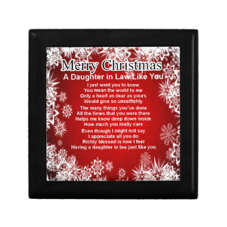 Daughter in Law Poem - Christmas Design Gift Box