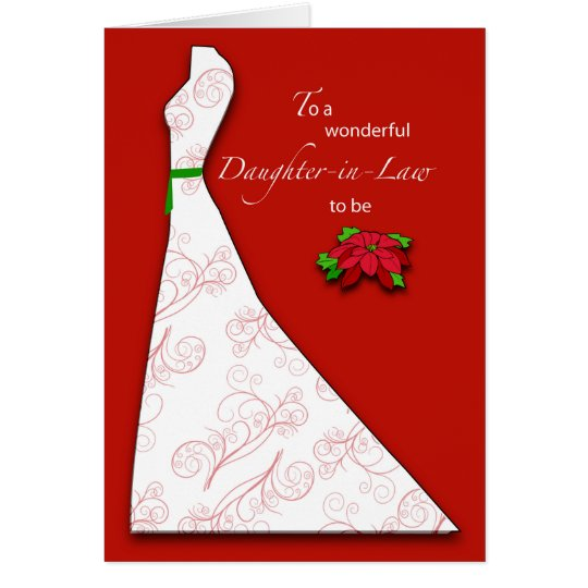 Daughter-in-Law to Be Bridal Shower Silhouette, Ch Card