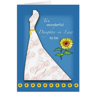 Daughter-in-Law to Be Bridal Shower Sunflower Greeting Card