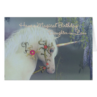 Daughter-in-Law Unicorn Birthday Card Magical Birt