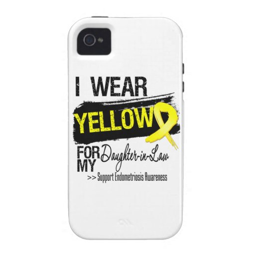 Daughter-in-Law Yellow Ribbon Endometriosis iPhone 4 Case