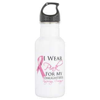 Daughter Inspiring Courage Breast Cancer 532 Ml Water Bottle
