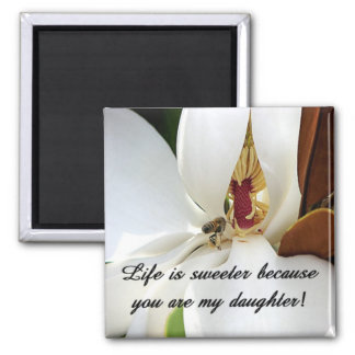 Daughter Love Square Magnet