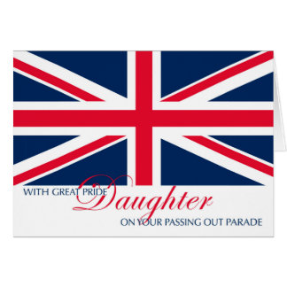 Daughter Marching in Passing Out Parade Congrats Greeting Card