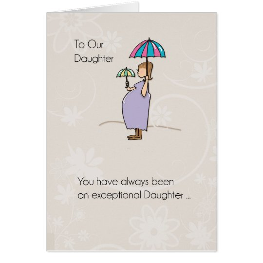 Daughter, Mother's Day Pregnant Mum Card