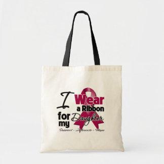Daughter - Multiple Myeloma Ribbon Budget Tote Bag