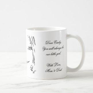 Daughter Name Emily Typography Mug