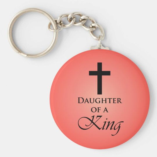 Daughter of a King Basic Round Button Key Ring