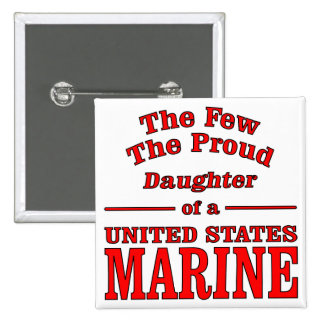 Daughter Of A United States Marine 15 Cm Square Badge