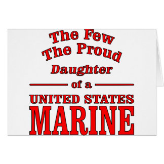 Daughter Of A United States Marine Card