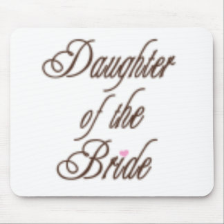 Daughter of Bride Classy Browns Mouse Pads