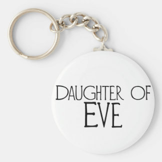 Daughter of Eve Basic Round Button Key Ring