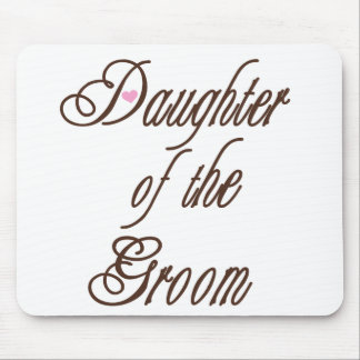 Daughter of Groom Classy Browns Mouse Pad