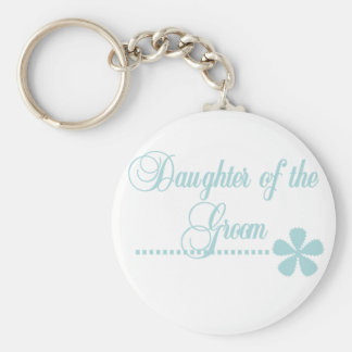 Daughter of Groom Teal Elegance Key Chains