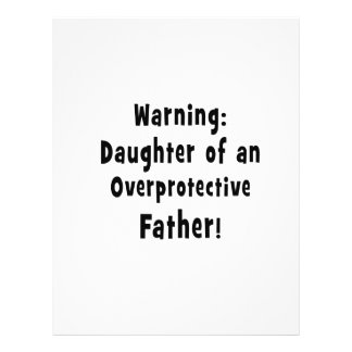 daughter of overprotective father black flyer design