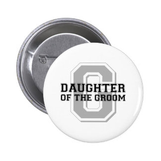 Daughter of the Groom Cheer 6 Cm Round Badge